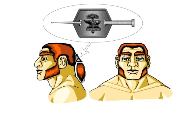 Desenho de Personagem: Clérigo Anão (Cabeça)