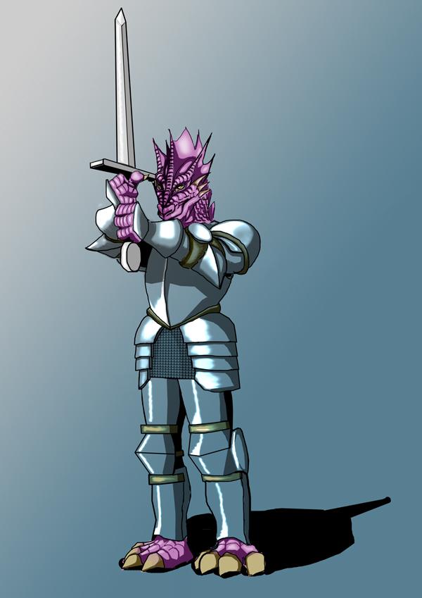 Desenho de Personagem: GUERREIRO DRACONATO