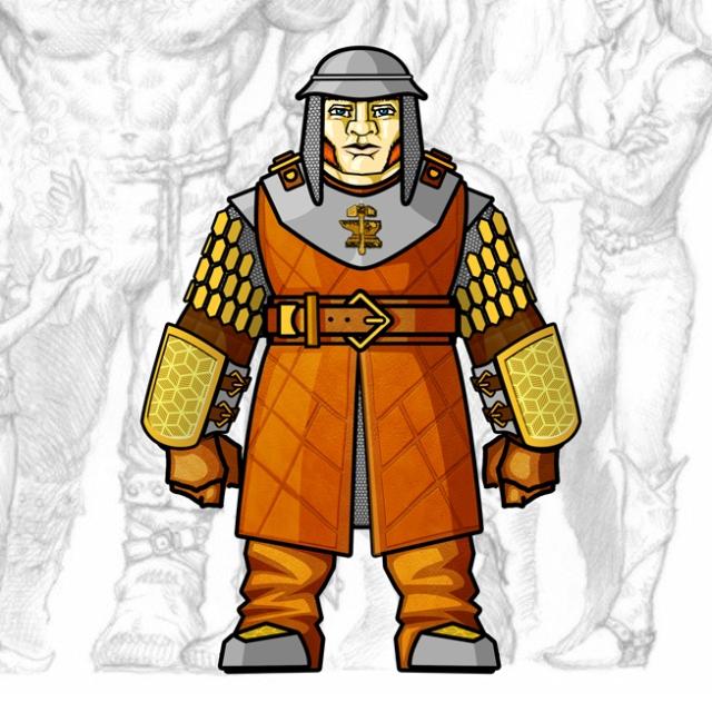 Desenho de Personagem: Clérigo Anão (Corpo Inteiro)