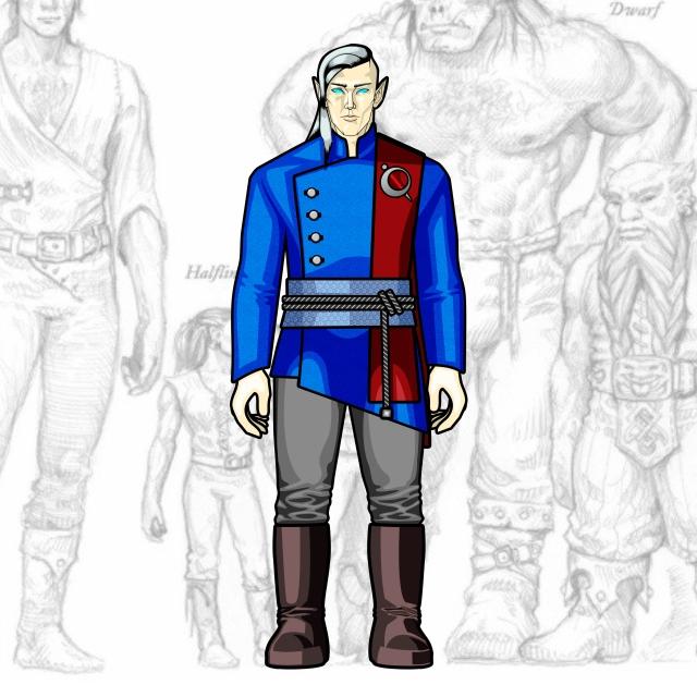 Desenho de Personagem: Elfo Mago (Corpo Inteiro)