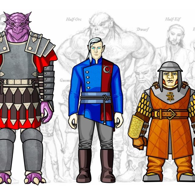 Desenho de Personagem: Grupo Completo (Corpo Inteiro)